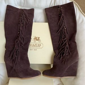 Coach Shoes - Coach Dollie Suede Boots